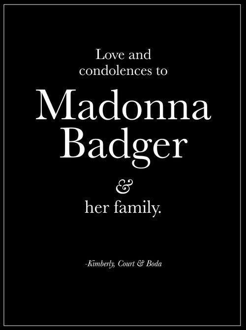 Madonna Badger